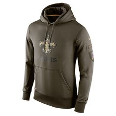 Men s Nike New Orleans Saints NFL Salute To Service 15 KO Hoodie - 695840  325  096f25208