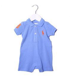 Ralph Lauren Sky Blue Polo Style Baby Grow