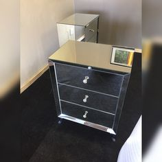 80cm high 60cm wide 40cm depth Art Studios, Bedside, Drawers, Chrome, Elegant, Furniture, Instagram, Home Decor, Classy
