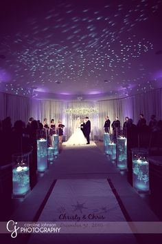 Why not incorporate ceiling and other lighting into your ceremony?