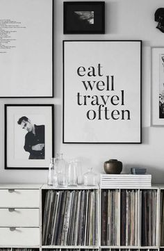 Eat Well Travel Often Travel Gift Travel Quote by PrintasticStudio
