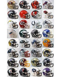 Riddell All 32 Current NFL Teams Speed Revolution Mini Helmets Nfl Football Helmets, Nfl Football Players, Sports Helmet, Saints Football, Football Memes, Jaguars Football, 32 Nfl Teams, Nfl Logo, Team Logo