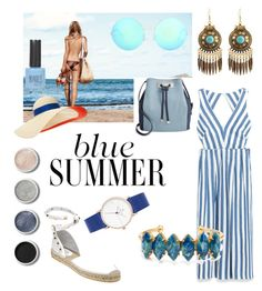 """Blue summer collection"" by nia-yemima on Polyvore featuring Elizabeth Cole, INC International Concepts, Victoria Beckham, Eugenia Kim, Terre Mère, Topshop and Ash"