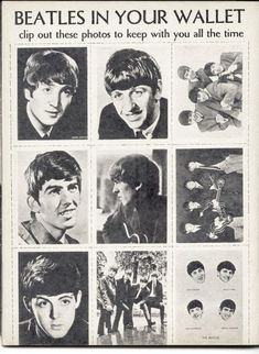 Beatles in your wallet Beatles Funny, The Beatles, Great Bands, Cool Bands, Original Beatles, All You Need Is Love, My Love, The Ed Sullivan Show, Beatles Photos