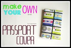 HUNGRYHIPPIE: Passport Cover tutorial: make your own series project 1