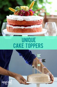 Ideas for Easy, Inexpensive, and Unique Cake Toppers