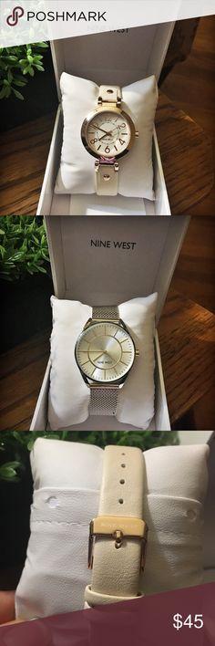 Selling this ‼️SALE‼️NWOT Nine West rose gold- tone watch on Poshmark! My username is: mgiovanni. #shopmycloset #poshmark #fashion #shopping #style #forsale #Nine West #Jewelry