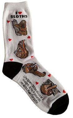 I Love Sloths Women Socks Cotton New Gift Fun Unique Fashion >>> Find out more about the great product at the image link.