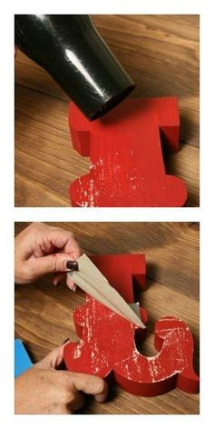 DIY weathered look- paint, blow dry, duct tape, remove, tada! Cute Crafts, Crafts To Make, Diy Crafts, Fall Crafts, Diy Projects To Try, Craft Projects, Craft Ideas, Project Ideas, Crafty Craft