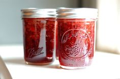 Strawberry Balsamic Thyme Jam: this is so amazing. the thyme and balsamic vinegar give the jam a subtle complexity (and a deeper color) without overpowering the strawberries.