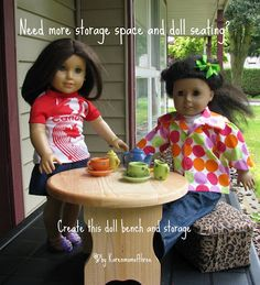 Karen Mom of Three's Craft Blog: Need more doll storage and seating? Make this out of a Diaper Wipe container!