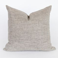 Stanhope 22x22 Pillow, Ash – Tonic Living Modern Throw Pillows, Grey Pillows, Decorative Pillows, Condo Living Room, Lakeside Cottage, Large Sofa, Contemporary Home Decor, Grey Fabric, Modern Classic