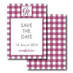 """Hochzeitskarten mit Monogramm Save the Date Karte """"ADDISON"""" auf"""