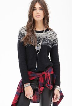 Contrast Marled Knit Sweater   Forever 21 - 2000119025