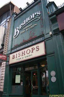 Bishops Traditional Fish 'n' Chips, Belfast, Northern Ireland. Yum!