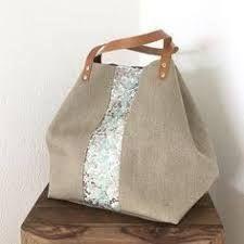 Risultati immagini per tutorial cabas reversibles Lace Bag, Diy Sac, Bags 2017, Classic Handbags, Diy Purse, Jute Bags, Patchwork Bags, Denim Bag, Fabric Bags