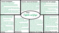 Frogs and Tadpoles Medium Term EYFS plan