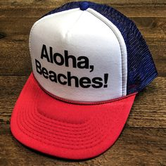 Aloha Beaches July 4 of July Red White   Brew Funny Snapback. f4b5c3bf07e8
