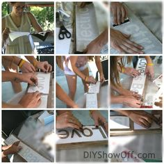 DIY Signs and a girls' DIY day…using silhouette vinyl for letters