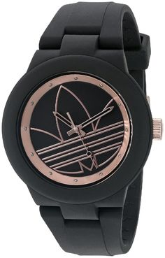 adidas Women's ADH3086 Aberdeen Analog Display Analog Quartz Black Watch >>> Want additional info for the watch? Click on the image.