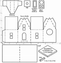 Image result for Printable Patterns for Putz Glitter Houses