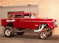 1955 Chevy outrageous gasser! Not enough lift. When you've bought so many kits that you can start customizing them to your own taste. The beginnings of an auto designer.