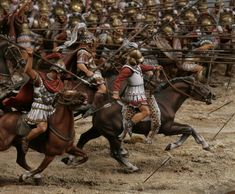 Diorama - Attack of the army of Alexander the Great at the Battle of Gavgamelah, 331 BC 30 mm Greek Antiquity, Classical Antiquity, Alexander Of Macedon, Valhalla, Greek Warrior, Greek Art, History Memes, Alexander The Great, Historical Art