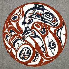 Haida Salmon & Eagle