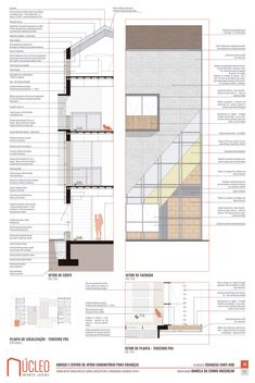 Section Drawing Architecture, Architecture Design, Autocad, Graphic Design Illustration, Floor Plans, Photoshop, Construction, Layout, Adobe Indesign