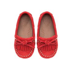 Image 2 of Leather moccasin with fringes from Zara