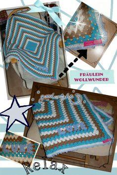 Babydecke * big granny square * Baby blanket * afghan * gehäkelt * crochet  https://www.facebook.com/fraeuleinwollwunder