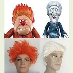 Wigs for Heat Miser and Snow Miser  #HeatMiser #SnowMiser #YearWithoutaSantaClaus #theYearWithoutaSantaClaus #halloweencostume #costumeideas #costumewig #halloween #wigs #wigsarefun #halloweenwigs #wigshop #halloweenwig #getthislook