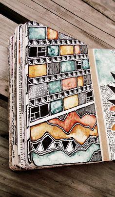 Watercolor sketchbook.
