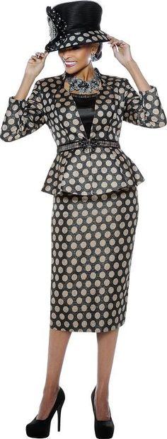 Susanna 3565 Womens Metallic Dot Suit