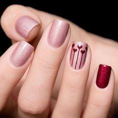 Elegant Nail Designs, Beautiful Nail Designs, Cute Nail Designs, Heart Balloons, Nail Stickers, Top Coat, You Nailed It, Stencils, Metallic Nail Polish