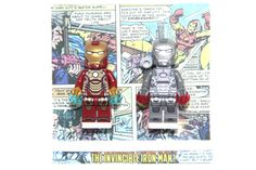 $59.99 on etsy  LEGO Iron Man and War Machine Minifigures Framed by The3LittleFigs in white shadow box