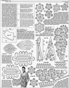 Maravilloso chal / capa crochet irlandés / patrones | Crochet y Dos agujas - Patrones de tejido