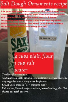 Salt dough Recipe - Mudpies and Sunshine