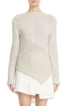 Narciso Rodriguez Handkerchief Hem Cashmere Sweater available at #Nordstrom