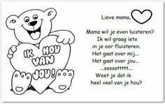 DIY moederdag_Moederdagversje Fathers Day Crafts, Mamas And Papas, Mom Day, Mother And Father, Mom And Dad, Best Friends, Crafts For Kids, Comics, Words