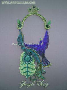 Jungle Song Necklace by Arbumillia Floriferous