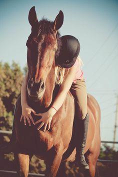horse hug!