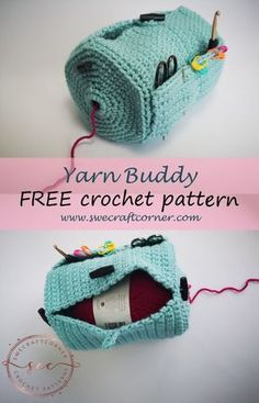 Crochet accessories 43980533848317874 - Yarn Buddy – FREE crochet pattern – Swecraftcorner Yarn caddy crochet pattern free Source by adventuresofadiymom Crochet Diy, Crochet Pattern Free, Crochet Simple, Crochet Amigurumi, Love Crochet, Crochet Gifts, Knitting Patterns, Crochet Ideas, Free Knitting