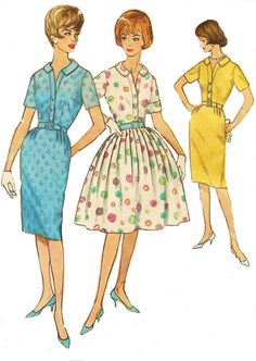 1960s Simplicity Sewing Pattern 4425 Womens One by CloesCloset