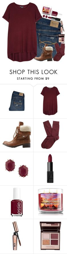 """""""Get used to this color"""" by bloom17 ❤ liked on Polyvore featuring Abercrombie & Fitch, Vince, Charlotte Russe, Brooks Brothers, Kendra Scott, NARS Cosmetics, Essie, Benefit and Charlotte Tilbury"""