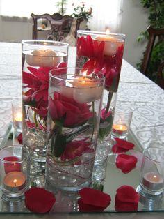 Rectangular centerpieces for wedding beautiful wedding table centerpiece junglespirit Choice Image