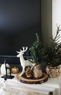 Decorate Your Mantel for the Holidays - Inspired by This