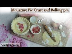 Miniature Baking scene - Pie Crust and Rolling pin tutorial - YouTube