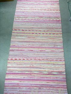 rag rug used Recycled Fabric, Scandinavian Style, Woven Rug, Pattern Design, Recycling, Weaving, Rag Rugs, Interiors, Inspiration
