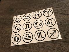 Custom Horoscope stickers! Any size and any color!